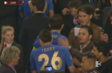 Here he comes… John Terry changes into full kit again to pick up European trophy