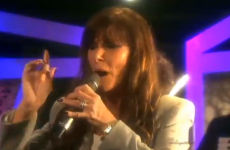 Linda Martin sings last year's Eurovision winner… badly
