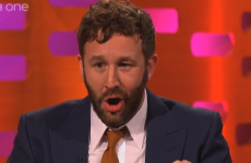 Chris O'Dowd swallowing a fly on Graham Norton… in GIFs