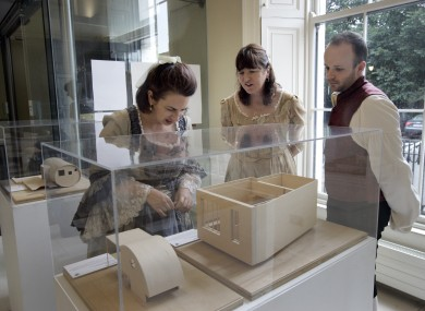 Exploring an exhibition on the ground floor of the Irish Architectural Archive on Merrion Square, which has to temporarily close in a cost-cutting measure.