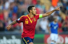Spain crowned U21 European champions after Thiago hat-trick