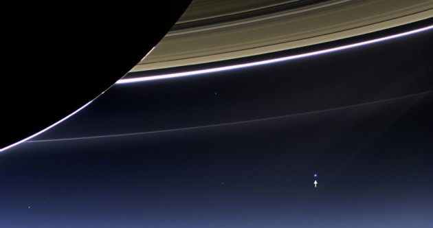 This is what earth looks like from Saturn, 1.44 billion km away
