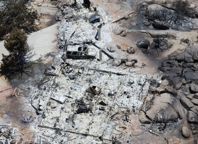 The aftermath of the Arizona fire in which 19 firefighters lost their lives.