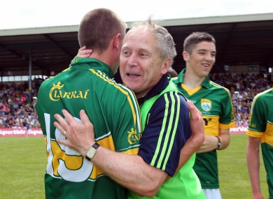 Kerry's Mickey Ned O'Sullivan celebrates after the Munster final.