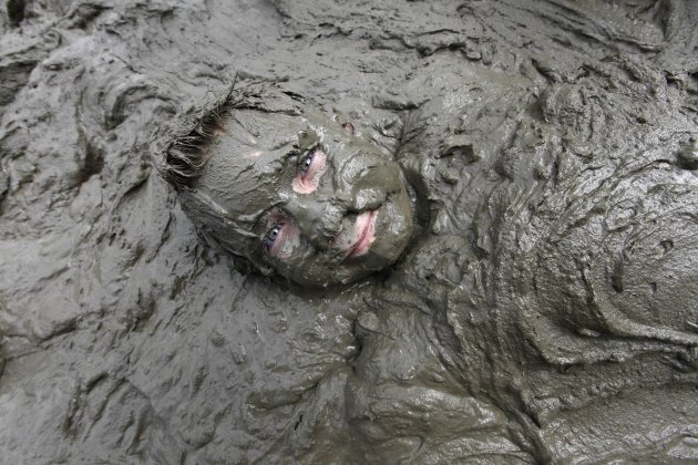 Single Thai mud covered chubby