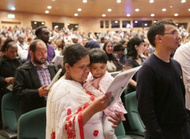 Samsoom Nahar, originally from Bangladesh, at a citizenship ceremony in Dublin's convention centre in May