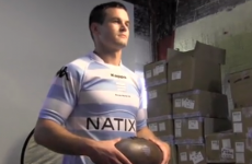 Jonny Sexton shows off new Racing Metro gear but misses Wilkinson clash