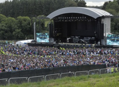 Crowds at the Eminem concert at Slane Castle on Saturday.