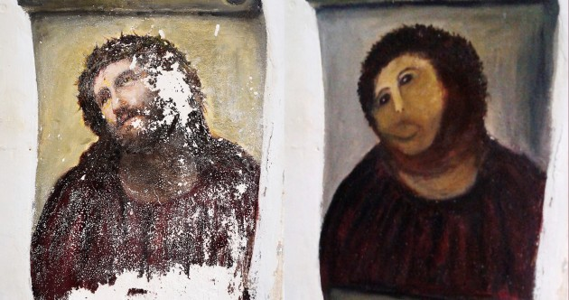 Botched restoration of Christ fresco still pulling in the money