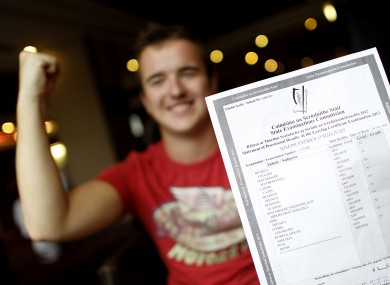 Joe O'Sullivan from Kenmare in Kerry celebrates his results this time one year ago
