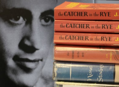Copies of J.D. Salinger's classic novel 'The Catcher in the Rye' as well as his volume of short stories.