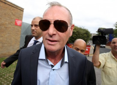 Paul Gascoigne arrives at Stevenage Magistrates Court today