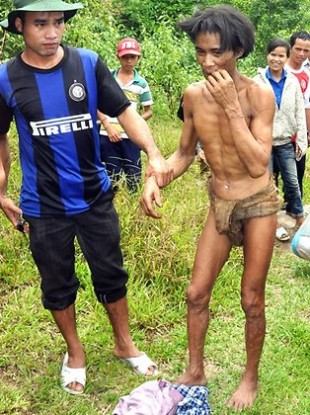 Ho Van Lang, 42, pictured when rescued.