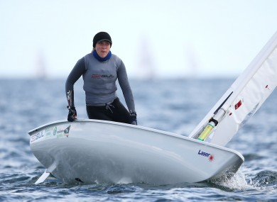 Ireland's Annalise Murphy in action at the Laser European & World Sailing Championships.