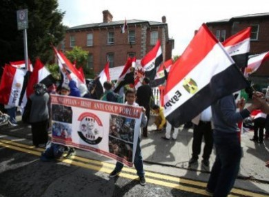 Friends and family of the Halawa siblings demonstrate in Dublin last month