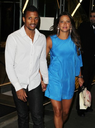 Nani and his girlfriend Daniela Martin out and about in Manchester last week.