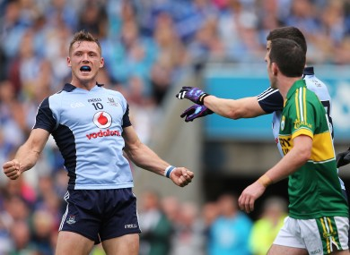 Dublin's Paul Flynn celebrates his side's victory over Kerry.