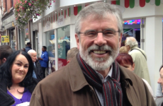 'I can't kiss you on the lips': Little talk of Seanad as Gerry Adams canvasses in Dublin