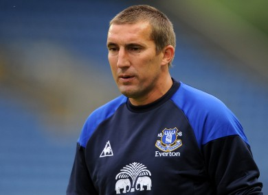 Alan Stubbs is now a coach at Everton.