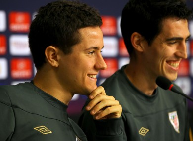 Staying put: Athletic Bilbao's Ander Herrera (left). File picture.