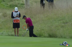 Henrik Stenson hits ball into the water, hulk smashes his driver in rage