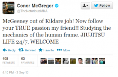 Geezer's looking for a new gig. It's the sporting tweets of the week
