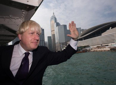 London Mayor Boris Johnson on a visit to Hong Kong