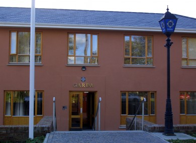 Bray Garda Station, where the man arrested yesterday is being held.