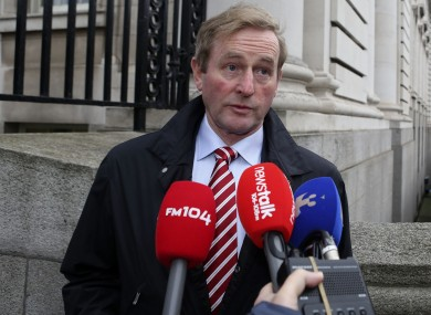 An Taoiseach before today's cabinet meeting.