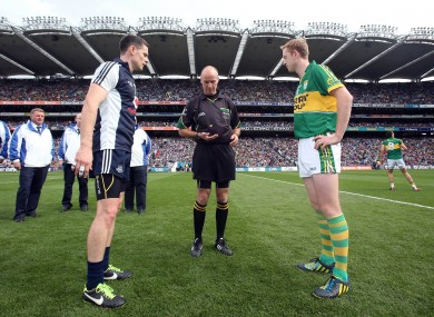 Dublin's Stephen Cluxton and Kerry's Colm Cooper.