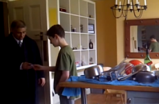 Adorable dad freaks out over son's good maths grade