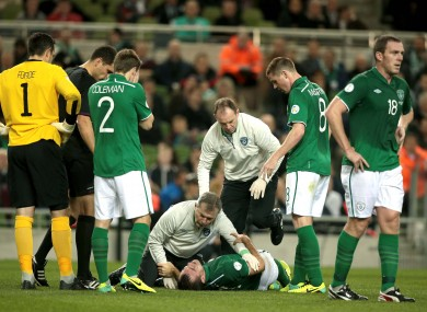 Gibson: faces a lengthy spell on the sidelines.