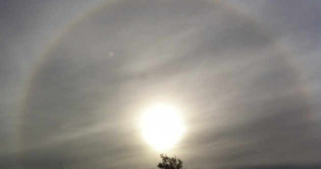 This optical phenomenon was spotted in Dublin this morning