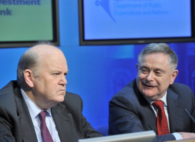 Michael Noonan and Brendan Howlin.