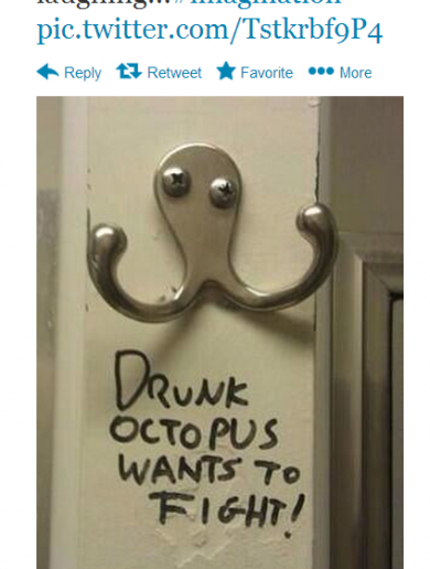 Drunk octopus' for the win! It's the sporting tweets of the week