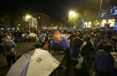 Hundreds camped out in Rome to protest against austerity