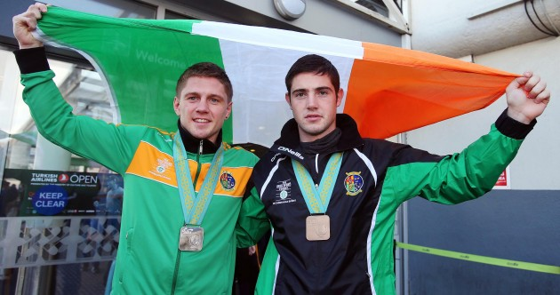 12 of our favourite pictures as Ireland's World Boxing heroes return home