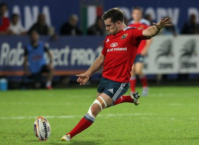 JJ Hanrahan is back at out-half for Munster.