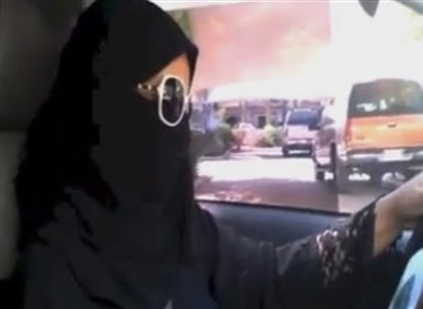 Saudi woman driving today.