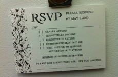 You'd definitely RSVP to these brilliant wedding invitations