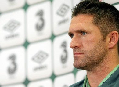 Keane: spoke to the media ahead of training this evening.