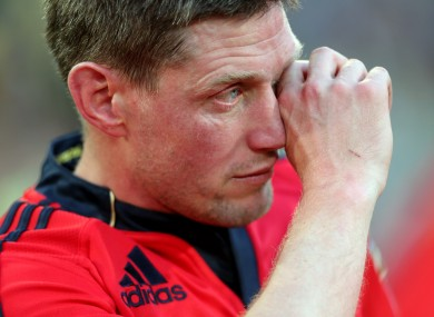 O'Gara after Munster's defeat to Clermont in the Heineken Cup semi-final last season.