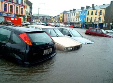 File image of flooding in Cork.