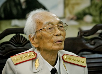 An August 2008 picture of General Vo Nguyen Giap.