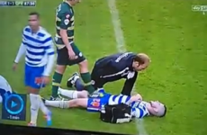 VIDEO: Joey Barton wiggles his boot on Danny Guthrie