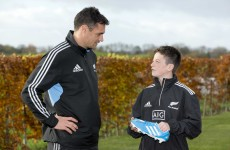 Snapshot: Dan Carter meets 13-year-old YouTube star George Morgan