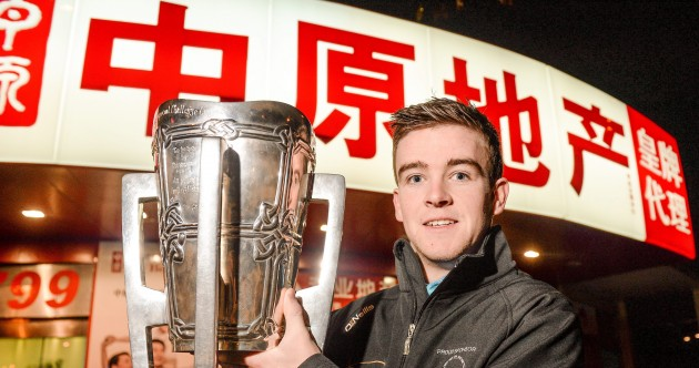 Spotted in Shanghai – Liam MacCarthy Cup in possession of a Clare hurler