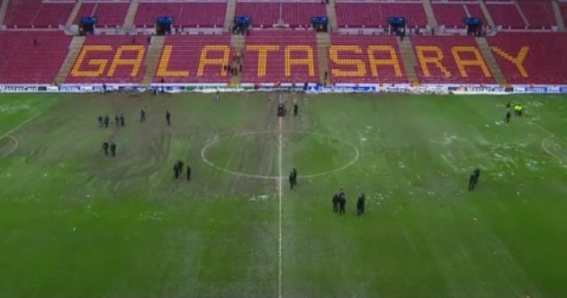 Snapshot: Galatasaray's pitch is looking well ahead of their game with Juventus