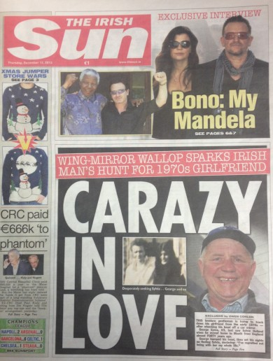 There's quite a headline on the front of the Irish Sun today