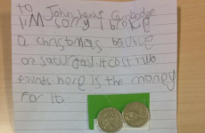 Little girl writes adorable letter to John Lewis to apologise for breaking bauble
